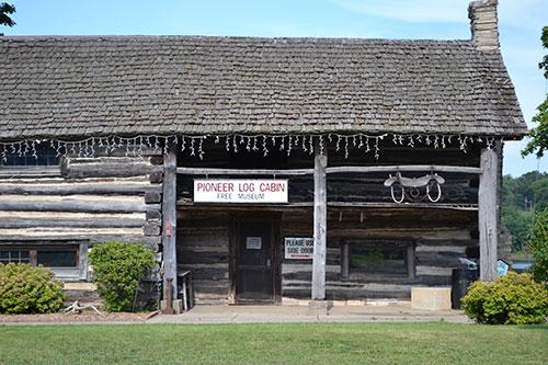 Pioneer log cabin museum, Cassopolis, Cass County, MI