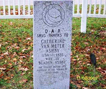 Grave of Revolutionary War Spy Catherine Van Meter Ashby, Cass County, MI