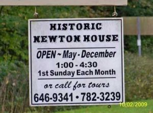 Historic Newton House tour hours, Marcellus, Cass County, MI