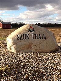 Sauk Trail Marker on US 12 Ontwa Township Cass County MI