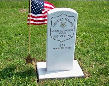 Civil War Medal of Honor recipient Thomas Bourne, former resident of Cass County, MI