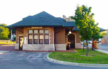 Dowagiac's Historic Train Station with daily Amtrak service to Cass County, Michigan