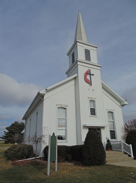 Cass County MI, First Methodist Episcopal Church on Middle Crossing Rd