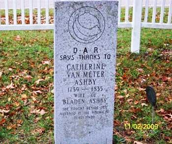 Grave of Revolutionary War Spy Catherine Van Meter Ashby, Cass County, MI