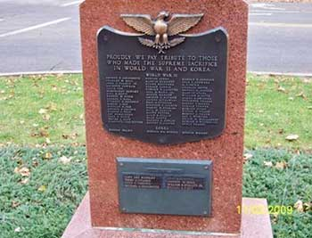 Cass County Michigan Vietnam-WWI War Memorial, Farr Park, Dowagiac, MI