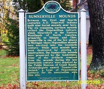 Sumnerville Mounds Marker, Sumnerville, Cass County, MI