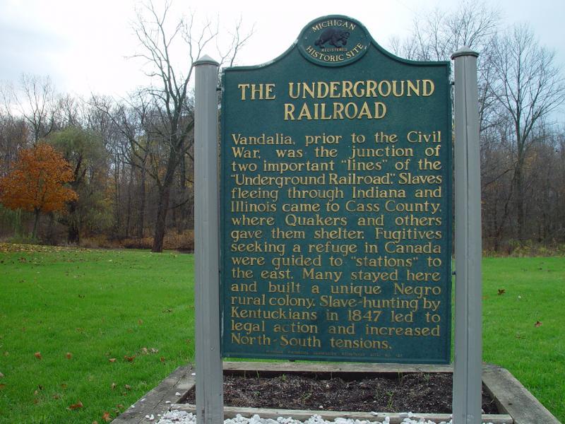Underground Railroad Marker, Vandalia, Cass County, MI